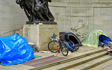 London; England - May 3 2019 : Homeless People