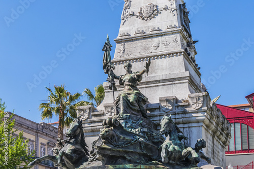 Detail of the monument to Prince Henry the Navigator (1900) in Infante Dom Henrique Square Fototapeta