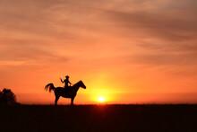 Landscape, Prairie, Cowboy Hat...