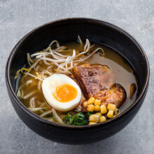 Ramen Soup With Udon Noodles