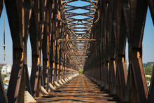 Rusty Old Steel Bridge Out Of ...
