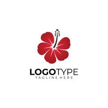 Hibiscus Logo Icon Vector Isolated
