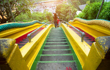 Colorful Stairs In Wat Tham Kh...