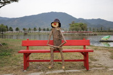 A Hat-clad Scarecrow Sitting I...