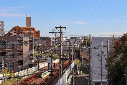 Obraz na plátně いずみ野線の沿線風景(神奈川県横浜市旭区)