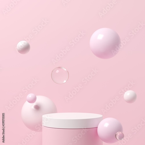 Abstract background, mock up scene with podium geometry shape for product display Fototapete