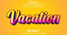 3D Vacation Text Effect - Editable Text Effect