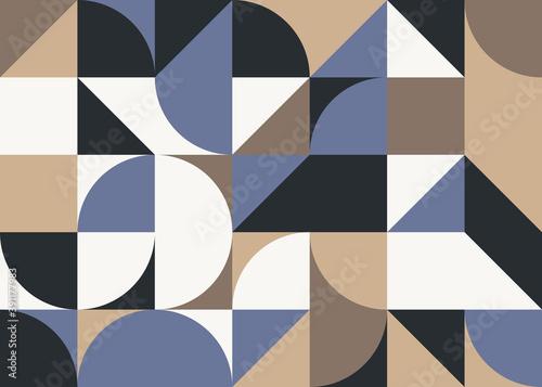 Billede på lærred Bauhaus Abstract Vector Composition Design