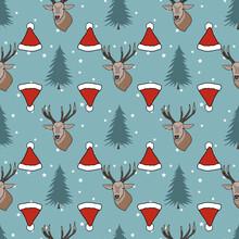 Winter Christmas Seamless Pattern Illustration