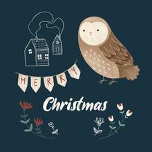 Christmas Greeting Card. Night...
