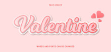 Valentine Text Effect Editable Vector Image