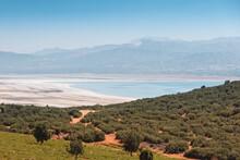 Aerial View Of Lake Burdur In ...