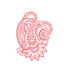 Paisley Isolated. Card With Pa...