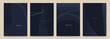 Elegant dark blue abstract trendy universal background templates. Minimalist aesthetic.
