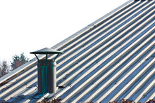 Metal Chimney On Copper Roof -...