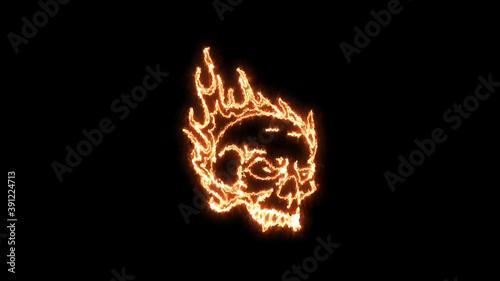 Tela Fire burning skull