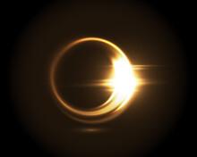 Circular Lens Flare Golden Lig...