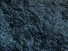 3d Illustration, Texture Of Rough Black, Dark Turquoise Stone Of Unearthly, Space Origin