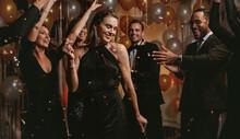 Beautiful Woman Dancing With F...