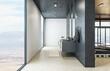 Leinwandbild Motiv Modern hipster style bathroom interior