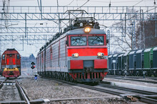 Freight Locomotives Moves On T...