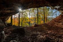 Höhle Eingang Portal Hönneta...