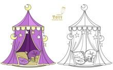 Cute Cartoon Toy Tent Marquee ...