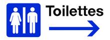 Panneau Signalétique Toilette Flèche Droite