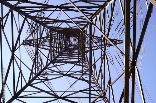 Fotografia View from below at pylon