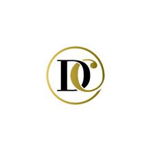 Dc Luxury Logo Design Vector Icon Symbol Circle