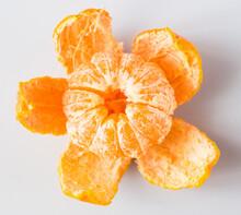 Mandarin With Peeled Peel On W...