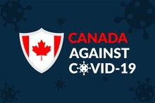 Canada Against Covid-19 Campaign - Vector Flat Design Illustration : Suitable For World Theme, Health / Medical Theme, Humanity Theme, Infographics And Other Graphic Related Assets.
