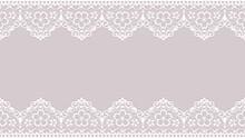桜のレースのフレーム素材_和風イラスト_16:9