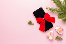 Smartphone With Red Bow Like A...