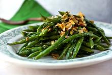 Garlic Green Beans On Plate