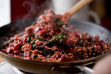 Pink Risotto With Beets And Le...