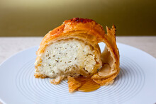 Slice Of Phyllo With Feta Torte, Dill And Nutmeg