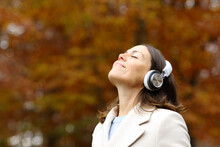 Middle Age Woman Breathing Fre...