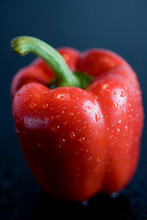 Close Up Of Raw Red Bell Pepper