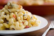 Close Up Of Macaroni And Humbo...