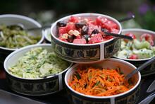 Close Up Of Salad Choice In Bu...