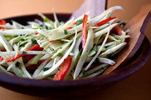Fennel And Red Bell Pepper Salad