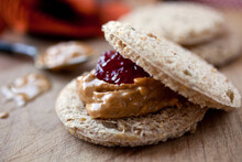 Crispbread With Nut Butter And Jelly
