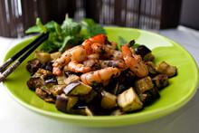 Charred Shrimp And Eggplant Wi...