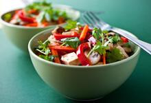 Close Up Of Tofu And Vegetables Stir Fry