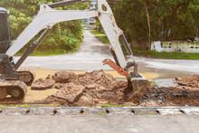 Backhoe Dig Repair Broken Wate...