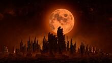 Futuristic Night Cityscape Wit...