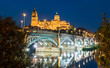The New Cathedral and the Enrique Estevan bridge in Salamanca - Castile and Leon, Spain