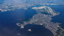 Aerial View Of The Galeão Airport In The  Guanabara Bay;   Rio De Janeiro; Brazil;