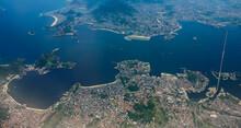 Aerial View Of The Rio-Niteroi Bridge In Guanabara Bay. Rio De Janeiro. Jan 2017